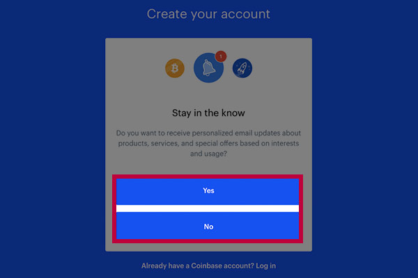 Coinbase notifications